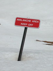 Keep Off (kopper) Tags: snow sign warning rockymountains rmnp avalanche