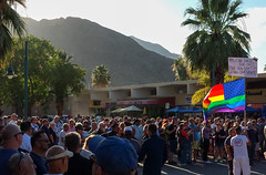 Palm Springs vigil for Orlando (#182130) (DB's travels) Tags: california palmsprings protest lgbt