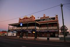 Dunedoo Hotel at Dusk (Darren Schiller) Tags: building architecture hotel pub community dusk australia alcohol newsouthwales verandah smalltown dunedoo