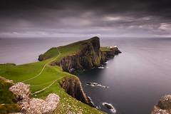 Neist Point - Isle of Skye (dawnlb83) Tags: neistpointlighthouse isleofskye seascape scotland june summer longexposure 10stopfilter nd cliffs lighthouse sea rocks