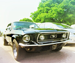 Sixties Ford Mustang .. * # 2 (John(cardwellpix)) Tags: uk ford june corner work sunday progress surrey mustang guildford 5th sixties newlands albury 2016 merrow