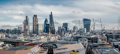 City Builders (Sean Batten) Tags: city england sky urban panorama london skyline skyscraper nikon cityscape unitedkingdom panoramic cranes financialdistrict gb 70200 tower42 thegherkin walkietalkie cityoflondon d800 thecheesegrater