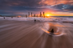 Line of fire (Dylan Toh) Tags: gnd ndfilter nisi portwillunga adelaide australia australianlandscape everlook landscape longexposure photographer photography seascape southaustralia sunset