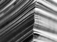 Pages (smithnik477) Tags: blackandwhite white black macro lines closeup paper pages minimal minimalism macrophotography leadinglines iphone6s