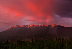 West Needles Rainbow Sunset (Steadfast Christian) Tags: lighting trees sunset summer mountains nature weather photo spring rainbow colorado god picture explore creation aspens sanjuanmountains landscapephotography letsexplore patrickdillonphotocom