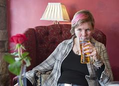 Scottish nails and Irish cider (azar2007) Tags: travel portrait girl scotland pub travels nikon europa europe