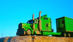 "Kenworth W900L own project ""Spirit of Freedom"" (Clay scale model truck 1/100) (Plast&Cars) Tags: cars scale truck project model clay own 1100 kenworth plast spiritoffreedom w900l"