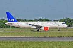 """OY-KAS Airbus A.320-232 SAS MAN 03-06-16 (PlanecrazyUK) Tags: egcc manchester man ringway """"manchester airport"""" oykas airbusa320232 sas 030616"""