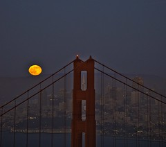 Strawberry Moon (Bob Nastasi) Tags: sanfrancisco california nikon fullmoon goldengatebridge transamericapyramid strawberrymoon bobnastasi d800e