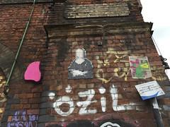 Mona Lisa in mosaic. Shoreditch, London. June 2016. (atomic girl nyc) Tags: streetart london graffiti mosaic monalisa spaceinvader 8 shoreditch invader bit