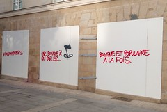 IMG_20160409_190632 (Cocomilie) Tags: wall graffiti tags anarchism slogan nantes manifestation punchline loitravail
