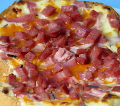 Ham, sausage and cheeses (diffuse) Tags: cheese bread sausage ham pizza melted msh0616 msh06165