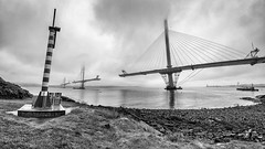 Queensferry Crossing (delphwynd) Tags: bridge mist clouds construction sunday engineering forthbridge riverforth northqueensferry forthroadbridge haar queensferrycrossing
