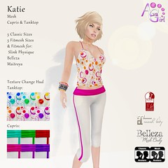 AvaGirl - Katie (Lilac Niven) Tags: sports fashion colorful mesh top tanktop casual belleza capris sportive maitreya slink avagirl fitmesh