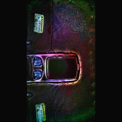 I'm bored  #blacklight #warning #car #pins #StFoo #bored #lookup #ceiling #allofthelights #beforeyouread (forrestrouble) Tags: car warning bored pins ceiling lookup blacklight allofthelights stfoo beforeyouread