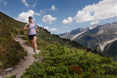 (justinbastien) Tags: mountain france female outdoors running chamonix frenchalps krissymoehl
