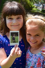 Irene And Violet Reliving A Moment From The Last Day Of School (Joe Shlabotnik) Tags: violet irene 2016 afsdxvrzoomnikkor18105mmf3556ged june2016
