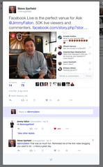 FACEBOOK LIVE JIMMY FALLON (stevegarfield) Tags: iphone4