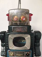 Vintage Television Spaceman Robot (humberama) Tags: old alps television vintage toy tin japanese robot 60s y retro spaceman sixties genuine