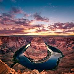 Horseshoe Bend (Gregory Lebreton | Photography) Tags: travel sunset arizona usa nature beautiful beauty landscape outdoors nikon rocks d800 horseshoebend d800e