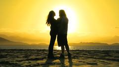Golden Hearts (Diego S. Mondini) Tags: sunset brazil love beach brasil couple