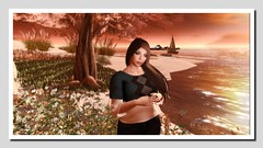 Golden Isle (Shylah Oceanlane) Tags: woman avatar scenic sl secondlife