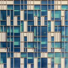 Window Syncopation (Paul Brouns) Tags: uk blue windows england sun white reflection london wall architecture composition facade square photography shadows greenwich surface peninsula rhythm 2dview paulbrouns paulbrounscom
