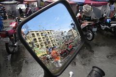 motorcycle parking manila (DOLCEVITALUX) Tags: people dog rain philippines helmet manila motorcycle drizzle motorcycleparkinglot canonpowershotsx50hs