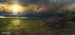 Prairie Canada Day! (Pat Kavanagh) Tags: panorama canada abandoned landscape farm alberta stitching farms prairie canadaday prairies stitched thunderstorms homesteads stormchasers taber 2016 canadianbadlands canadaday2016