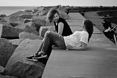 Weronika & Sandra- best friends (kramerowa) Tags: girls friends portrait people bw monochrome poland ustka nikond90