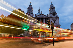 St Pauls Traffic (ParmarC) Tags: night golden hour long exposure motion blur landscape cityscape st pauls light evening london uk aperture shutter speed
