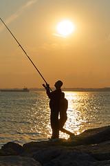 Bosporus fishing (georg19621) Tags: street people water landscape spring istanbul trkei sunsetsunrise