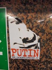 540 (en-ri) Tags: casa degli specchi sticker adesivo putin nero rosso torino wall muro graffiti writing bianco rap hip hop