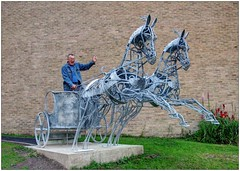 """Vision of an Ancient Chariot"" (bob the bolder) Tags: uk lebanon statue university durham chariot phoenician davidfreedman orientalmuseum"