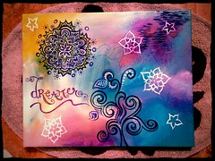 My Newest Painting (BriahnaMartin) Tags: blue purple dream dreamer zentangle zendala uploaded:by=flickrmobile flickriosapp:filter=peacock peacockfilter crearivity