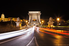 Entering the Chain bridge (Miroslav Petrasko (blog.hdrshooter.net)) Tags: camera travel bridge color beautiful night digital canon lens effects photography eos lights photo blog high europe hungary dynamic image colorfull budapest trails chain software processing stunning multiple 5d imaging dslr range danube hdr masking hdri luminance blending miroslav exposures bracketing 1635 dunaj photographyblog photoglog theodevil hdrshooter petrasko miroslavpetrasko hdrshooternet