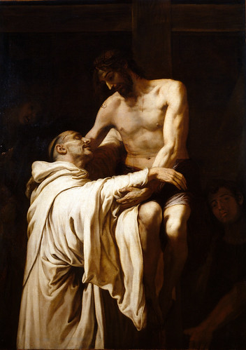 Ribalta, Francisco (1565c.- 1600s Deposed Christ Hugging St. Bernard Clairvaux (Prado Museum, Madrid, Spain)1628) -