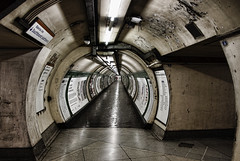 Anybody Out There? (vilartoni) Tags: london station underground lights tube tunnel embankment