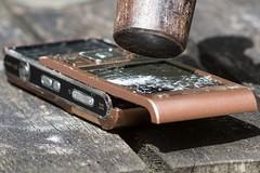 Stop ringing me (Evoljo) Tags: broken mobile hammer smash nikon call break phone explore reject d7100
