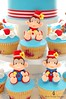 Circus Clown Monkeys! (Little Cottage Cupcakes) Tags: birthday boy tower monkey cupcakes circus monkeys topper 1stbirthday fondant sugarpaste littlecottagecupcakes