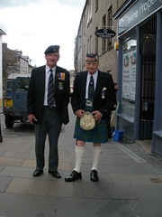 Two ex-servicemen in Stirling for the Argyll & Sutherland Highlanders' final parade (luckypenguin) Tags: army scotland uniform stirling argyll parade soldiers kilts sutherland tartan highlanders