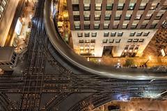 The Loop (Frank Kehren) Tags: railroad chicago night train canon illinois loop transit intersection f8 24105 ef24105mmf4lisusm westlakestreet canoneos5dmarkii northwellsstreet