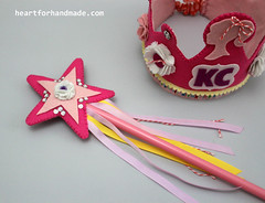 Coordinating wand and crown made of felt (Heart for Handmade) Tags: ribbons sewing wand sew felt sequins sewingproject handmadecard