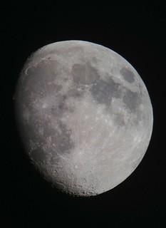 Waxing Gibbous Moon, August 17, 2013