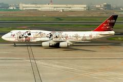 Japan Airlines | Boeing 747-400D | JA8908 | Disney Dream Express livery | Tokyo Haneda (Dennis HKG) Tags: plane airplane tokyo airport disneyland aircraft disney boeing jl boeing747 747 jal haneda 747400 hnd japanairlines planespotting oneworld boeing747400 rjtt ja8908