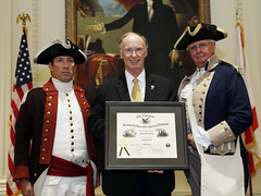08-22-2013 Governor Bentley honored at 10th avviversary of Sons of the American Revolution chapter in Shelby County