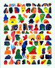 Fuck Faces (Kyle Pellet / Pellet Factory) Tags: california art painting paper artist pattern drawing sanjose bayarea gouache mutation pelletfactory kylepellet empiresevenstudios