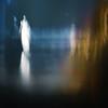 """Reflected"" (helmet13) Tags: woman reflection silhouette metal night nightshot blurred abstraction étude metalic flou studies boule etude aoi metalball 200faves leicadlux3 heartaward world100f"