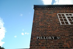 Pillory Street (zawtowers) Tags: street old blue sky sunshine sign town warm day cheshire market centre historic signage nantwich pillory