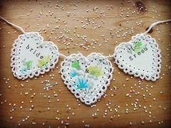 bride and groom (my little red suitcase) Tags: wedding hearts garland brideandgroom mylittleredsuitcase